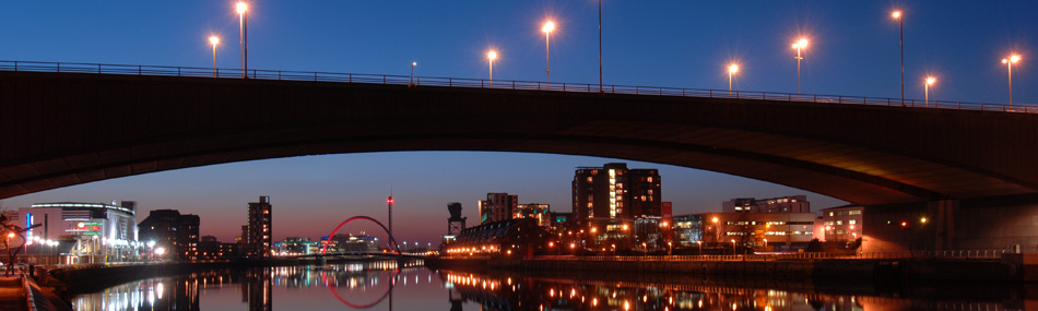 The Kinston Bridge leads into the city centre and the M8 motorway