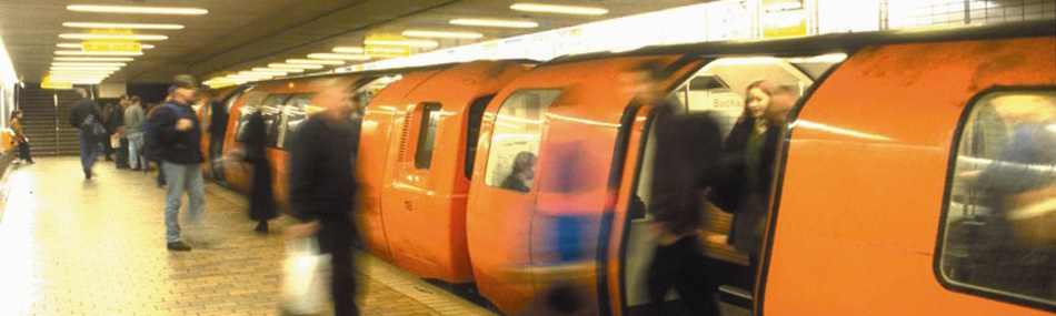 Glasgow's underground train