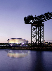 Architects impression of Scotland's National Arena at SECC by Foster & Partners