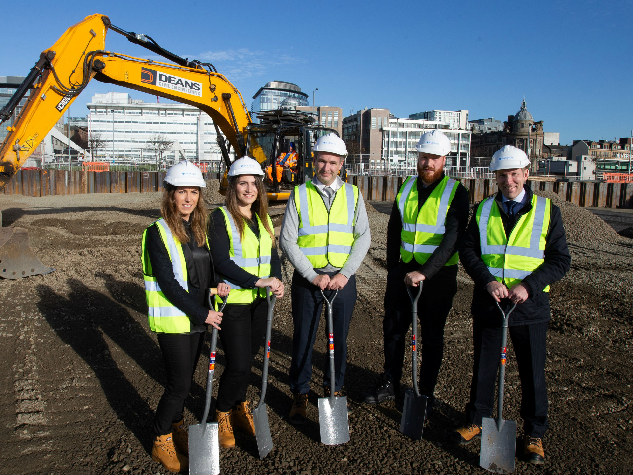 Barclays breaks ground on new Glasgow campus